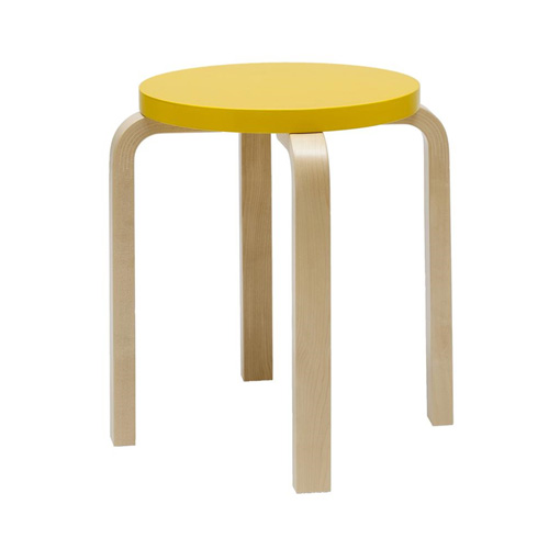 Stool E60 Yellow/Birch
