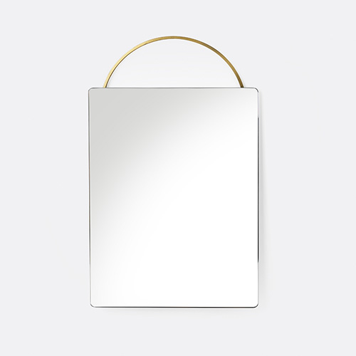 Adorn Mirror Brass Face