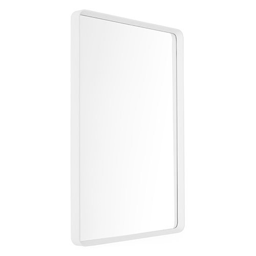 Norm Wall Mirror Rectangular White