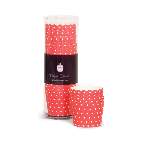 Baking Cup cherry red spots