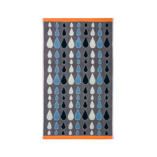 Rain Drops Hand Towel Grey