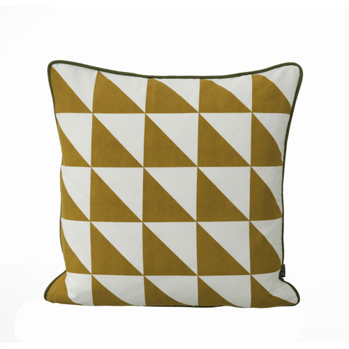 Large Geometry Cushion - Curry  (30% sale)