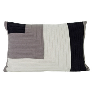 Angle Knit Cushion Grey