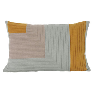 Angle Knit Cushion Curry
