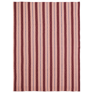Pinstripe Blanket Rose