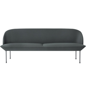 Oslo Sofa 3-Seater Steelcut 180/Dark Grey Legs