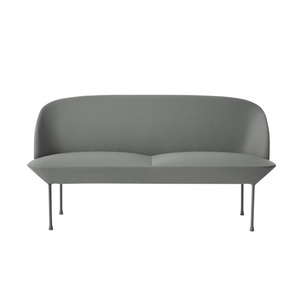 Oslo Sofa 2-Seater Steelcut 160/Light Grey Legs