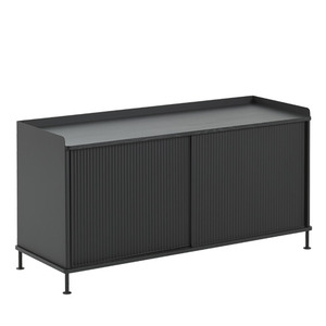 Enfold Sideboard Low Black/Black