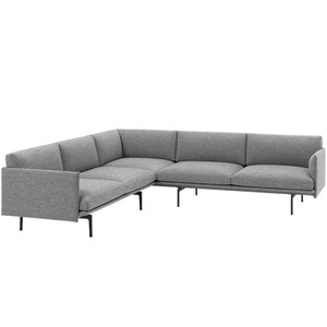 Outline Sofa Corner  Hallingdal 166/Black Base