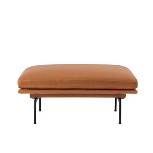 Outline Sofa Pouf/Black Base Refine leather Cognac  전화문의