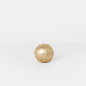 Card Stand Sphere Brass