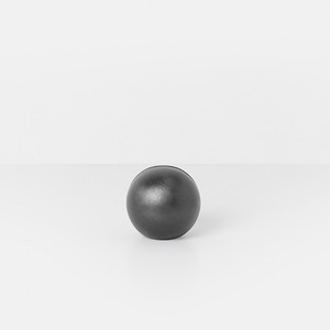 Card Stand Sphere Black Brass