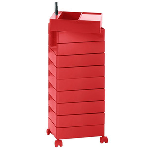 360° Container 10 Drawers Red