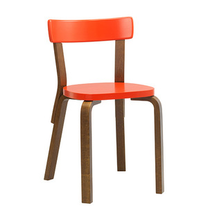Chair 69 Bright Red/Walnut Stained Birch [주문후 5개월 소요]