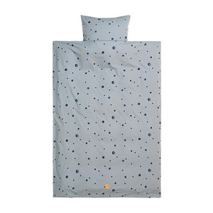 Moon Bedding Faded Blue Junior