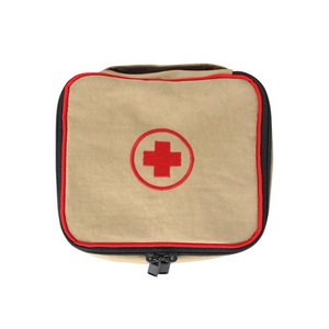 First Aid Kit Beige Mini Storage Bag