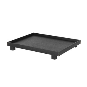 Bon Wooden Tray Large Stained Black  주문후 3개월 소요