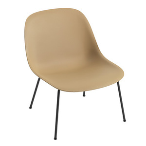 Fiber Lounge Chair Tube Base Ochre/Black
