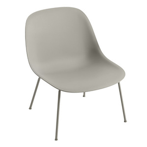 Fiber Lounge Chair Tube Base Grey