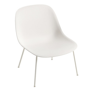 Fiber Lounge Chair Tube Base White