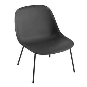 Fiber Lounge Chair Tube Base Black