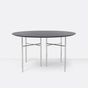 Mingle Table Round 130cm Black Veneer  전화문의