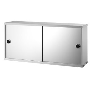 Cabinet With Mirror Doors Grey