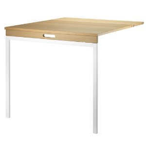 Folding Table Oak/White