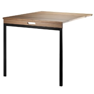 Folding Table Walnut/Black