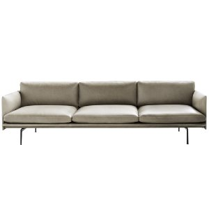 Outline Sofa 3 1/2-Seater/Black Base Refine Leather Stone  전화문의