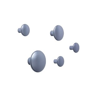 Dots Metal Set of 5 Pale Blue
