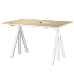 Works Height-adjustable Work Desk Ash