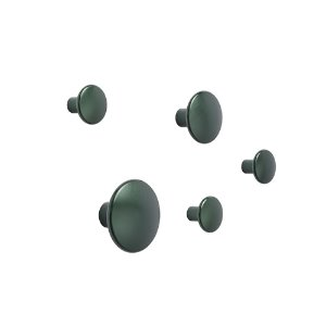 Dots Metal Set of 5 Dark Green