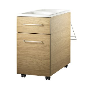 Works Mobile Storage Unit Oak