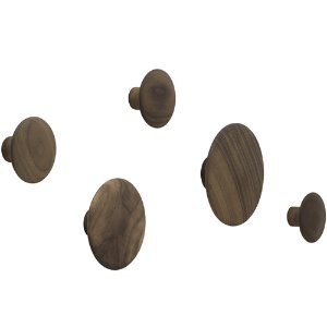 Dots Wood Set of 5 Walnut