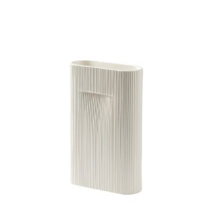 Ridge Vase H35cm Off-White