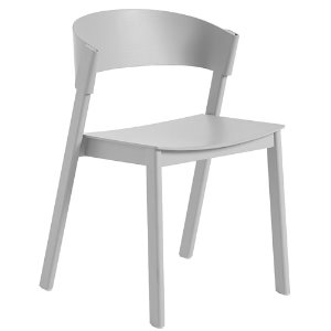 Cover Side Chair Wooden Seat Grey