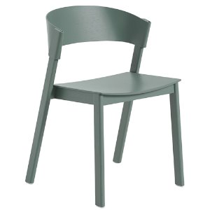 Cover Side Chair Wooden Seat Green