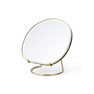 Pond Table Mirror Brass