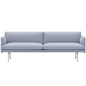 Outline Sofa 3-Seater  Polished Aluminum Base Vidar 723