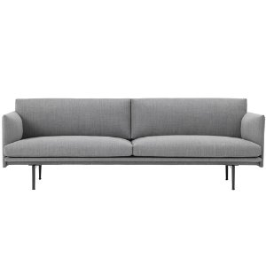 Outline Sofa 3-Seater  Fiord 151/black base