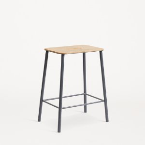 Adam Stool H50  Oak/Matt Grey  현 재고