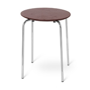 Herman Stool Chrome Red Brown