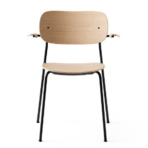 Co Chair With Armrest Black Steel Base/Natural Oak 현 재고