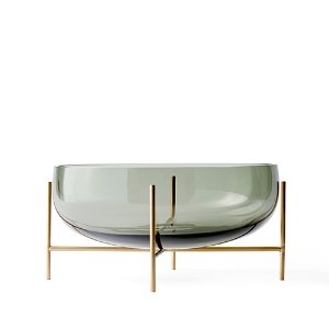 Échasse Bowl Large Smoke/Brushed Brass