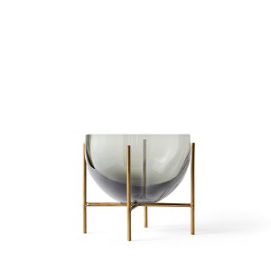 Échasse Bowl Small Smoke/Brushed Brass