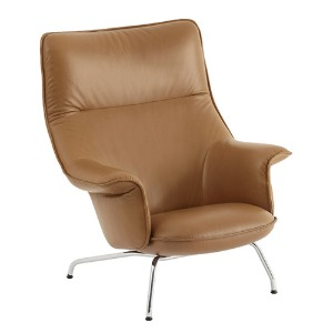 Doze Lounge Chair Cognac Refine Leather