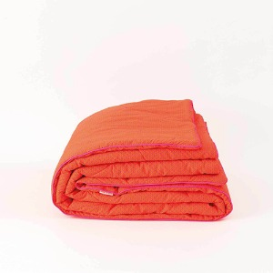 Large Blanket 1 Person 140x200 Zazen Tangerine