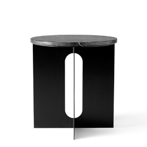 Androgyne Side Table Black Steel/Nero Marquina Marble  3월 초 입고