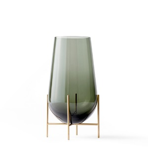 Échasse Vase Medium Smoke/Brushed Brass